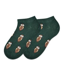 جوراب مچی بوم طرح جغد سبز