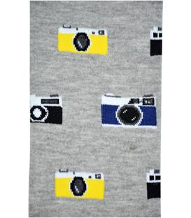 جوراب زیر زانو بوم طرح دوربین خاکستری