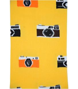جوراب زیر زانو بوم طرح دوربین زرد