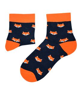 جوراب نیم ساق نانو پاآرا طرح روباه سرمهای