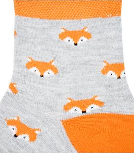 جوراب نیم ساق نانو پاآرا طرح روباه خاکستری روشن