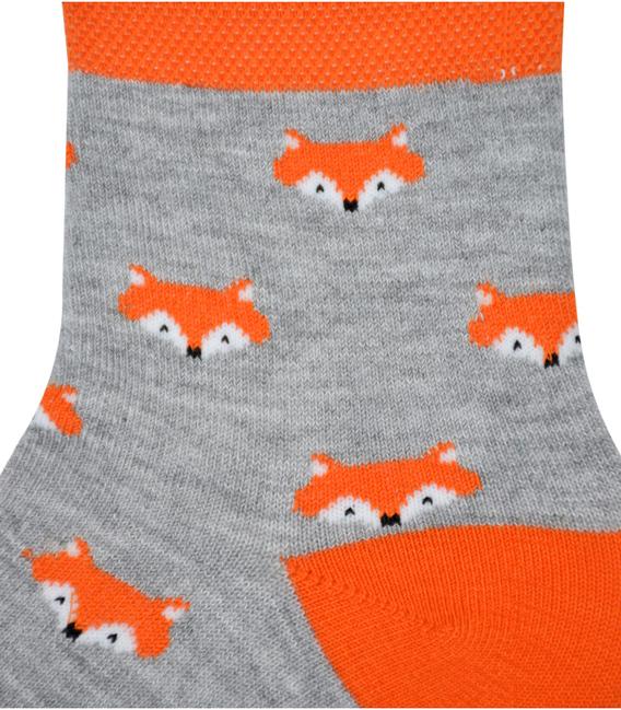 جوراب نیم ساق نانو پاآرا طرح روباه خاکستری