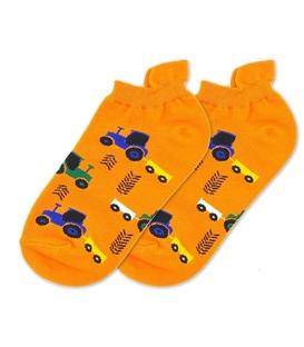 جوراب مچی نانو پاتریس طرح تراکتور نارنجی