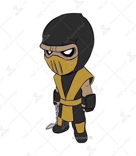 استیکر LooLoo طرح Mortal Kombat