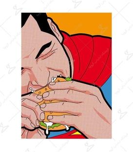 استیکر LooLoo طرح سوپرمن شکمو