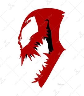 استیکر LooLoo طرح Venom آجری