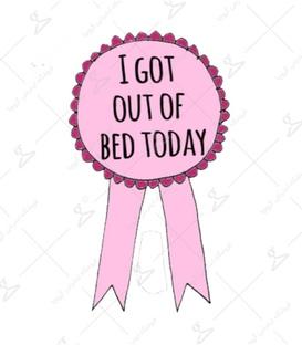 استیکر LooLoo طرح I Got Out Of The Bed
