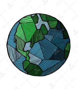استیکر LooLoo طرح کره زمین