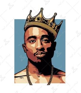 استیکر LooLoo طرح Tupac Shakur آبی