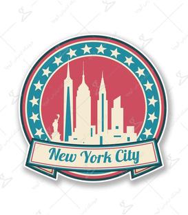 استیکر LooLoo طرح نیویورک