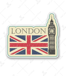 استیکر LooLoo طرح لندن