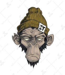 استیکر LooLoo طرح میمون خیابانی