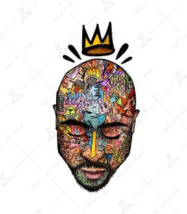 استیکر LooLoo طرح Tupac Shakur رنگی
