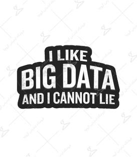 استیکر LooLoo طرح I Like Big Data