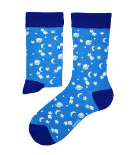 جوراب نانو ساق دار پاآرا طرح ماه و ستاره آبی