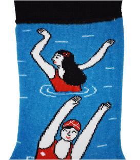 جوراب نانو ساق دار پاآرا طرح شناگر