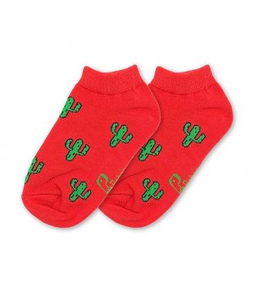 جوراب بچگانه نانو پاتریس طرح کاکتوس قرمز (۳ تا ۶ سال)