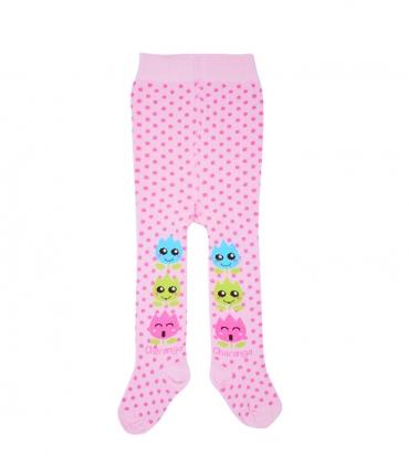 جوراب شلواری بچگانه Charanga طرح خالخالی صورتی