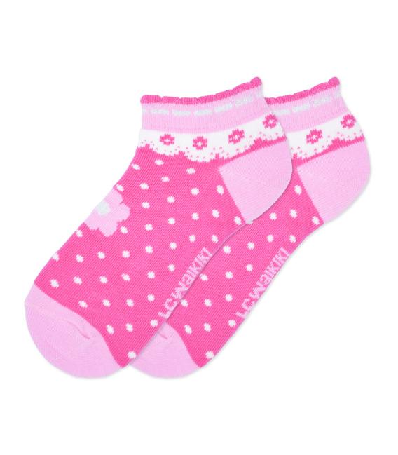 جوراب بچگانه LC Wailkiki طرح قلبی - پنج جفت
