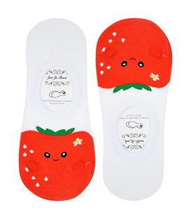 جوراب قوزکی طرح گوجه فرنگی سفید