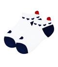 جوراب مچی پشت قلب دار طرح قلب سفید