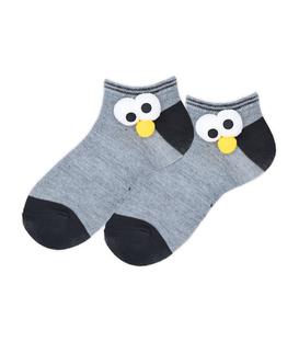 جوراب بچگانه مچی برجسته طرح چشم خاکستری مشکی