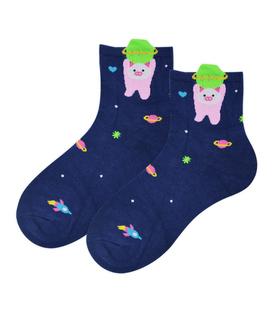 جوراب نیم ساق Coco & Hana طرح خوک فضانورد سرمهای