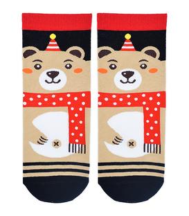 جوراب نیم ساق Coco & Hana طرح خرس کریسمس