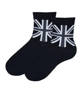 جوراب نیم ساق Coco & Hana طرح بریتانیا مشکی