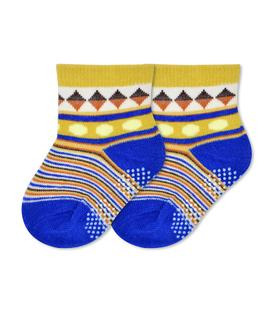 جوراب بچگانه کف استپدار طرح راه راه و لوزی
