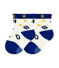 جوراب بچگانه کف استپدار طرح ستاره و الفبا شیری
