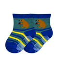 جوراب بچگانه کف استپدار طرح خرس