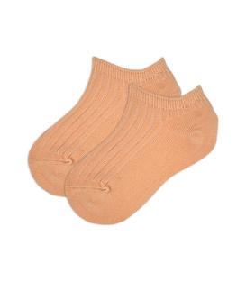 جوراب بچگانه مچی ساده کرم