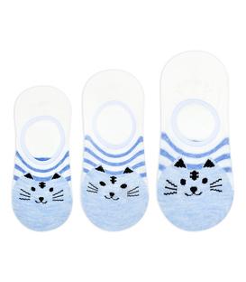 جوراب بچگانه قوزکی طرح گربه سفید