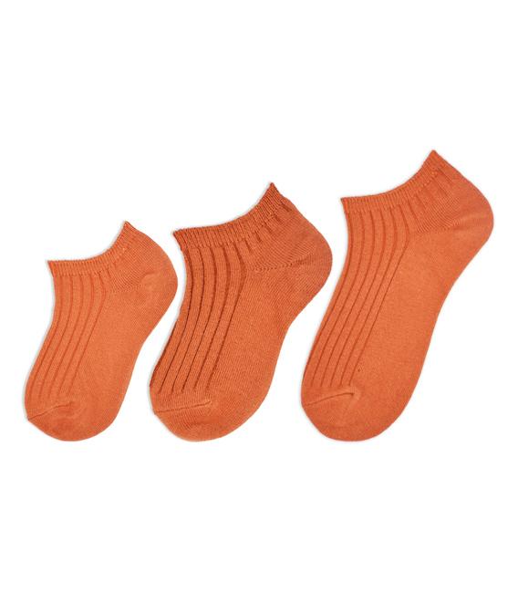جوراب بچگانه مچی ساده آجری