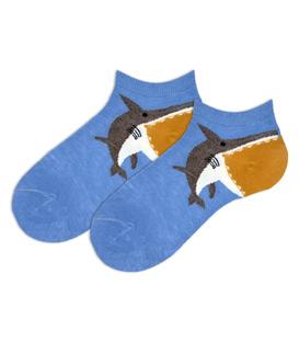 جوراب بچگانه مچی طرح کوسه آبی