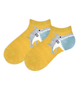 جوراب بچگانه مچی طرح کوسه خردلی