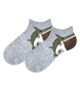 جوراب بچگانه مچی طرح کوسه خاکستری