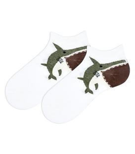 جوراب بچگانه مچی طرح کوسه سفید