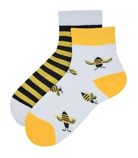 جوراب بچگانه نیم ساق نانو پاآرا طرح زنبور عسل (سه تا هفت سال)