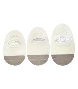 جوراب بچگانه کف استپدار پشت ژلهای دو رنگ شیری خاکستری