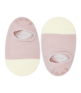 جوراب بچگانه کف استپدار پشت ژلهای دو رنگ کالباسی شیری