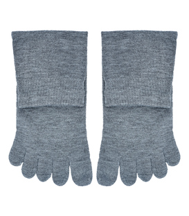 جوراب نیم ساق انگشتی ساده خاکستری