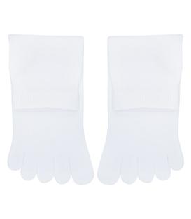 جوراب نیم ساق انگشتی ساده سفید