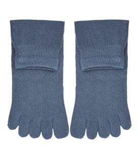 جوراب نیم ساق انگشتی ساده سربی