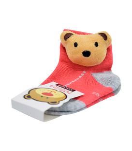 جوراب بچگانه عروسکی طرح خرس گلبهی