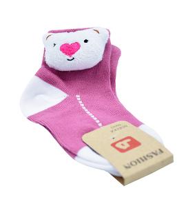 جوراب بچگانه عروسکی طرح کوآلا صورتی
