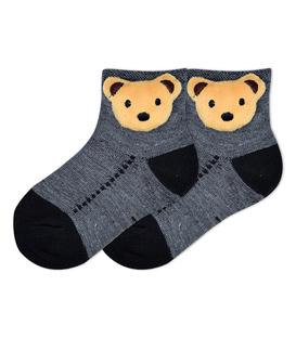 جوراب بچگانه عروسکی طرح خرس خاکستری