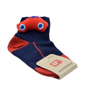 جوراب بچگانه عروسکی طرح ماشین سرمهای