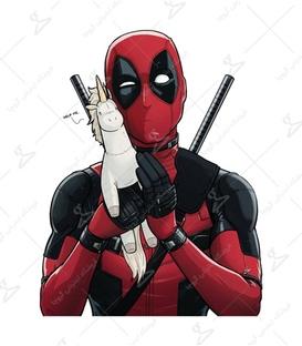 استیکر Lit Art لیت آرت طرح Deadpool